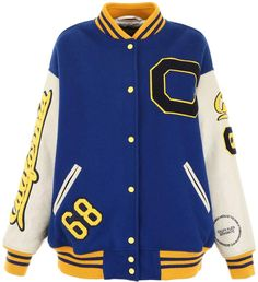 Shop Calvin Klein Berkeley University Bomber Jacket and save up to EXPRESS international shipping! Varsity Jacket Outfit, Varsity Letterman Jackets, Bomber Jacket, Calvin Klein, Sport Wear, Hoodies, Beige, Sleeves, How To Wear