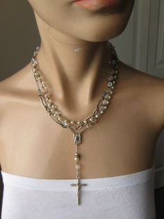 Divinely Blessed ... vintage rosary necklace by OhMyGypsySoul, $62.00