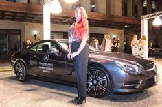 My Town magazines Fashion reporter, Bree at the Mercedes-Benz fashion Festival in Brisbane.