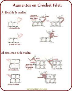 Crochet Filet. Aumentos