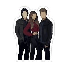 Vampire Diaries Poster, Vampire Diaries Quotes, Vampire Diaries Wallpaper, Vampire Diaries Damon, Vampire Dairies, Vampire Diaries The Originals, Red Bubble Stickers, Cool Stickers, Vampire Drawings