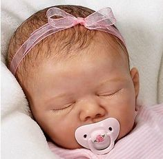 Reborn Baby Doll Lifelike Marissa May Ashton Drake So Truly Real Collectible