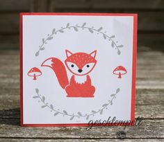 Foxy Friends - einfache Stempelkarte