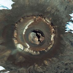 Mount Kilimanjaro's peak in Tanzania captured by the US GeoEye-1 satellite