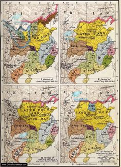Maps of the Five Dynasties and Ten Kingdoms.Five Dynasties (907 AD – 960 AD). Ten Kingdoms (902 AD – 979 AD) Old Maps, Antique Maps, Vintage Maps, World History Map, China Map, Historical Maps, Ancient China, Silk Road, Cartography