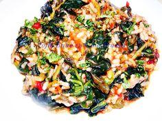 Urzici, spanac, stevie, leurda, sfecla sau loboda cu orez, o reteta care poate fi preparata in mai multe moduri. Vedeti aici cum.