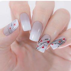 💕Valentine's Day Nail Design💕 - Nail art designs Valentine's Day Nail Designs, Nail Art Designs Videos, Simple Nail Designs, Nails Design, Flower Design Nails, Valentine Nail Designs, Nail Art Flowers, Plaid Nail Designs, Valentine Nails