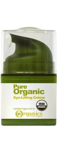 Pure Organic Eye-lifting Crème by DRJ Organics. $47.25. Anti-Wrinke. Dermatologist tested. Improves fine lines, and sagging around the eyes. Improves skin around the eyes from wrinkles, and sagging. Protein from plant extracts lifts the wrinkles around the eyes improving sagging, and fine lines. The high potency coenzyme Q-10, botanical extracts, Vitamin E prevents skin lipids from oxidation to recover wrinkled skin around the eyes.