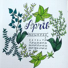 My April cover page! Leafy theme! #bulletjournal #bujo #bulletjournalmonthly #bujomonthly #bulletjournalcover #bujocover…