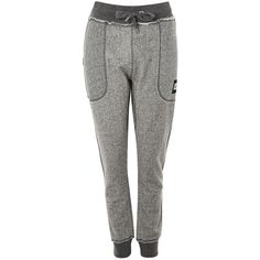 Lounge Joggers by Ivy Park ($60) ❤ liked on Polyvore featuring activewear, activewear pants, light grey m and logo sportswear