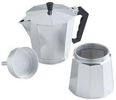 Italian Espresso Coffee Maker VonShef 12 Cup Stove Top Moka Macchinetta Pot Home…