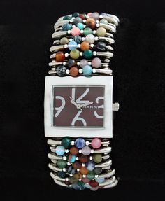 Safety Pin Watch Natural Stone