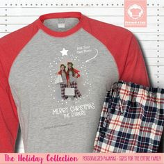 Our Matching Christmas Pajamas are a great way to highlight a beloved picture while that holiday spirit. Personalize these raglan sleeve shirts with a picture & a first or last name. #matchingchristmaspajamas #christmaspajamas #familychristmaspajamas #polarexpresspajamas #christmas #holidaypajamas #christmasgift #christmasphotoideas #pajamas #personalizedpajamas #christmas2020 #christmas #pressed4fun #p4f #fununiquecute #holidaypartyoutfit #holidaygift #holidaypartyideas #holidayparty Matching Christmas Pajamas, Family Christmas Pajamas, Holiday Pajamas, Matching Pajamas, Christmas Shirts, Christmas Eve Outfit, Photo Christmas Tree, Holiday Party Outfit, Christmas Pictures Outfits