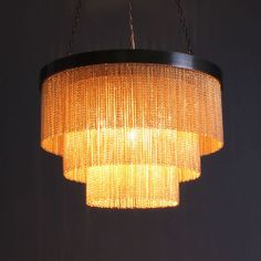 Tigermoth Gold Chain Shallow Chandelier 410mm