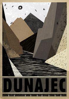 Dunajec, Polish Tourist Poster by Ryszard Kaja