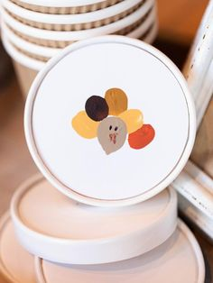Embellish To-Go Cartons With a Fingerprint Turkey - 19 Thanksgiving Kids' Crafts on HGTV