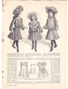 Vintage Delineator Childs Dresses Ad  c. 1903