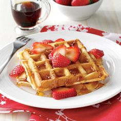 True Belgian Waffles Recipe -It was on a visit to my husband's relatives in Europe that I was given this Belgian waffle recipe. Back in the U.S., I served the waffles to his Belgian-born grandmother. She said they tasted just like home. Our grandkids love these homemade waffles with any kind of topping: blueberries, strawberries, raspberries, fried apples, powdered sugar or whipped topping. —Rose Delemeester, St. Charles, Michigan