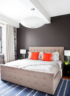 Attractive House Interior Design with Classic Exterior : Striking Bedroom Design Applied In Decarie Condo Finished In Neutral Color Idea Wit...