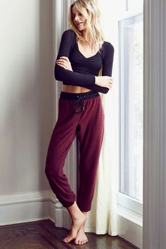 Out From Under Cozy Fleece Jogger Pant @urbanoutfitters #MockingbirdStation