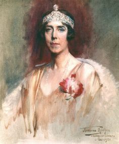 Retrato de la reina Elisabeth de Bélgica en 1930. Pintor: Herman Richir
