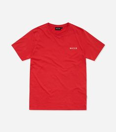 Chest logo short sleeve t-shirt in red. Features a crew neck, with short sleeves and small NICCE chest logo. Details:RedCrew neckShort sleeve t-shirtPrinted chest cotton Machine wash according to the care label. Men's Collection, Short Sleeves, The Originals, Logos, Tees, Mens Tops, T Shirt, Clothes, Fashion