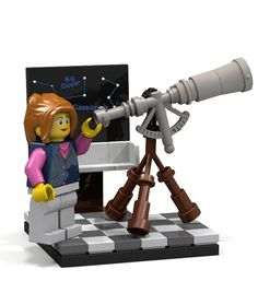 LEGO SONJA OLSON CUSTOM MINIFIG LOT female girl ENGLISH TEACHER gray jacket