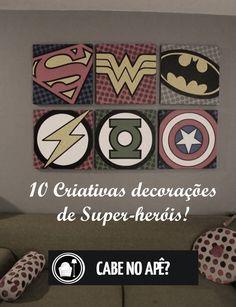 Acesse: http://cabenoape.com.br/10-criativas-decoracoes-de-super-herois/
