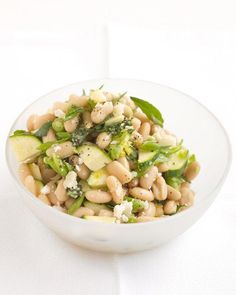 White-Bean Salad with Zucchini and Parmesan Recipe