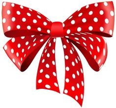 Red Dotted Ribbon PNG Clipart
