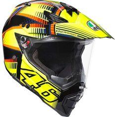 Order the AGV Dual Evo Soleluna Helmet - Yellow Black Orange from GetGeared: Feedback Rating - Shop now Agv Helmets, Motorcycle Helmets, Evo, Cbr 250 Rr, Motocross Enduro, Techno, Hors Route, Zx 10r, Vr46