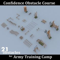 Confidence Obstacle Course Military 3D Models