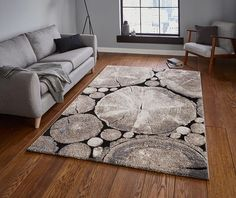 Covor maro, Design Modern, Dimensiune de 120x170 cm, Woodland - hoome.ro