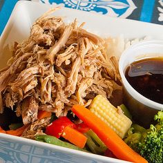 <p>I have enjoyed kalua pork at restaurants before but wanted to give it a try at home.  It really isn't hard to do.  With all the recipes I found, you basically just use salt and liquid smoke.  The other key to making it is cooking it low and slow for a long period of time.</p><p>You can cook it in the oven but I opted for the slow cooker method.  You end up with a deliciously tender meat that is flavorful on it's own.  I do like to eat it with some sauce and I will share a recipe for one…