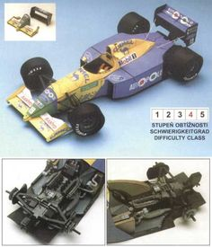 F1 Paper Model - Benneton Camel B190B 1:24 Scale Free Template Download