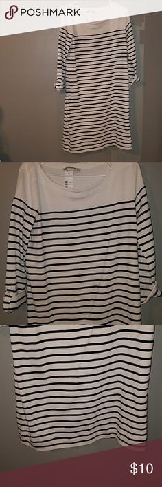 Women's striped dress size L Bought from Gabe's and never wore. Size large. No rips, stains, or holes. Comes from a pet amd smoke free home. Jones New York Dresses Midi