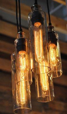 Eco Water bottle chandelier