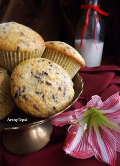 AranyTepsi: Csokidarás-joghurtos muffin Fudge, Muffins, Cupcakes, Dishes, Breakfast, Food, Drink, Diet, Morning Coffee