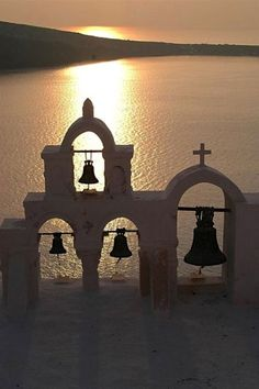 Church bells, Oia, Santorini, Greece~ Law and Fashion -Criminal Intent- Santorini Greece, Mykonos, Santorini Island, Oh The Places You'll Go, Places To Travel, Paros, Place Of Worship, Greece Travel, Spain Travel