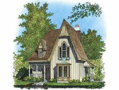 Victorian House Plan with 1204 Square Feet and 2 Bedrooms from Dream Home Source | House Plan Code DHSW65010