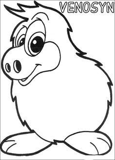 Yokomon Fargelegging for barn. Tegninger for utskrift og fargelegging nº 13