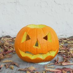 If you have a ton of rotting pumpkins on your porch, try this to get one last use out of them before you throw them away!