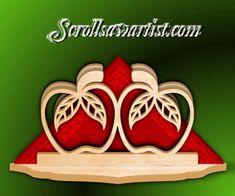 Wood Apples serviette holder
