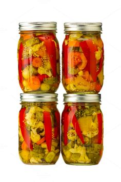Check out Jars of pickled vegetables by Zigzag Mountain Art on Creative Market