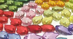 Crystal Acrylic Leaf Beads   Leaf Plant by supplysideeconomics
