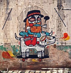 Cores e muito estilo na arte do espanhol Ruben Sanchez