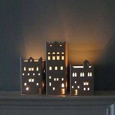 Oh so simple to DIY sweet little cardboard Yemeni house lanterns for battery night-lights.