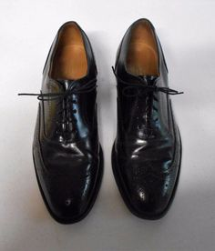 Johnston Murphy Optima Black Leather Lace Up Shoes Sz 9 Narrow Wing Tip Lace Up Shoes, Men's Shoes, Dress Shoes, Leather And Lace, Black Leather, Johnston Murphy, Derby, Oxford Shoes, Wings