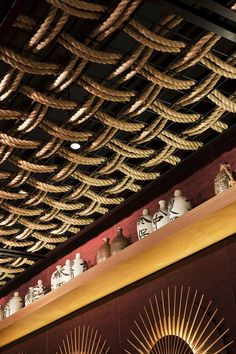 fishnet ceiling decor | ceiling design detail Modern Day Take On A Traditional Japanese Style ...
