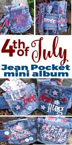 Jean Pocket Mini Alb